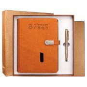 智能多功能移动电源8000毫安笔记本带U盘8G+签字笔两件套套装 金融会议送客户礼品