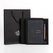 笔记本带扣 高档羊巴皮礼盒套装 展会送什么小礼品