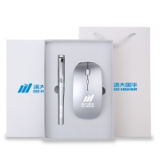 超薄无线蓝牙鼠标+签字笔商务办公礼盒套装 送客户实用小礼品