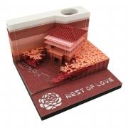 爱巢纸质立体便利贴 3d便签纸创意渐变模型 送客户礼物送什么好