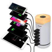 桌面6口智能输出七彩小夜灯充电器 比较实用的小礼品