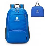 纯色户外防水折叠双肩包 背包 沙滩包 旅游小礼品定制