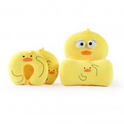 【小黄鸭】抖音爆款创意小黄鸭U型枕+靠枕+腰枕+抱枕四件套 年会奖品有哪些