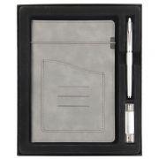 商务笔记本+签字笔+U盘三件套礼盒装 宣传品小礼品有哪些