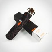 创意韩国猫头鹰全自动防晒折叠雨伞 趣味运动会奖品