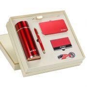 保温杯+签字笔+书签+充电宝+钥匙扣+名片夹礼盒套装 商务六件套礼品