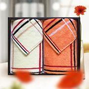 【洁丽雅】简欧-2 全棉毛巾舒适吸水 2条礼盒装 商业实用促销品