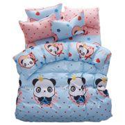 熊猫宝宝 芦荟棉床上四件套 棉质被套枕套床单套件 三八节送公司送什么礼品好