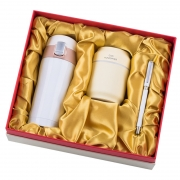 商务保温杯+多功能加湿器+签字笔三件套礼盒装 公司年会创意礼品