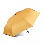 双面彩色全自动三折晴雨伞复合色胶专业防晒伞 房地产交付礼品