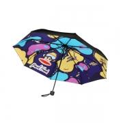 【大嘴猴】Paul Frank 卡通花纹折叠防晒黑胶伞 三八妇女节小礼品