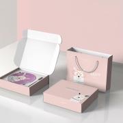 【羊萌萌】甜品盘*2+甜品叉*2套装 甜品礼盒四件套