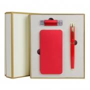 充电宝+U盘+笔三件套装 企业房地产银行礼品纪念品