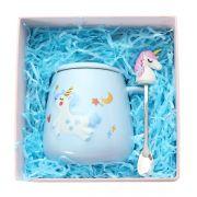陶瓷独角兽马克杯带盖勺礼盒装 奖品买什么好