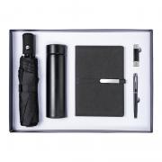 商务实用礼盒五件套 保温杯+雨伞+笔记本+U盘+签字笔 开业活动实用纪念品