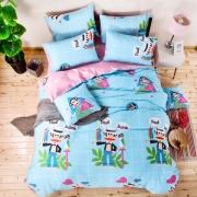 【大嘴猴】Paul Frank 鹦鹉乐园儿童床上用品套件 高档送人的礼品