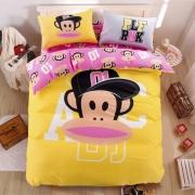 【大嘴猴】Paul Frank 潮流前线卡通全棉家纺四件套 年会游戏小礼品