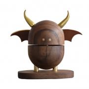 【小恶魔】创意小恶魔黑胡桃实木扩香器 车载香薰 创意车载礼品