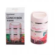 【若生活】悠香.保温饭盒 不锈钢双层保温提锅便当饭盒 适合送给员工的礼品
