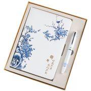 中国风笔记本+陶瓷签字笔两件套套装 中国风格会议礼品