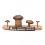实木蘑菇特色香水移车牌 迷你精致挪车牌 木质礼品