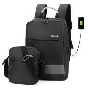 二件套铝把可充电商务双肩包 大容量电脑背包 公司活动什么奖品好