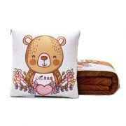 【来图定制】多功能珊瑚绒抱枕被靠枕垫 汽车行业促销礼品