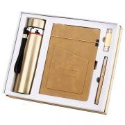 商务保温杯+笔记本+签字笔+U盘四件套礼盒装 实用纪念品