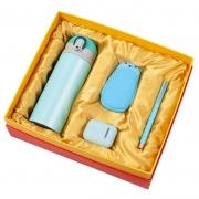 保温杯+暖手充电宝+无线蓝牙耳机+钢笔四件套套装 公司年会实用小礼品