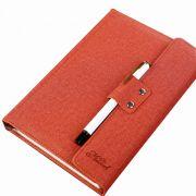 商务简约办公仿布纹PU皮革笔记本 年会签到礼品 三十元礼品