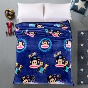 【大嘴猴】Paul Frank 克拉之恋卡通法琳娜绒休闲毯 团建活动奖品