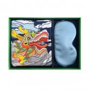 高端端午节礼品活动礼物100%桑蚕丝丝巾+真丝眼罩 端午节送客户什么礼品