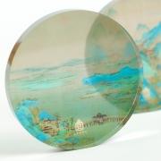 【来图定制】水晶玻璃半球镇尺2个礼盒装 送客户礼品推荐