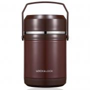 【乐扣乐扣】不锈钢三层保温饭盒1800ml LHC8036