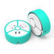 oksense 多功能USB充电器接线板 小柠檬随身充电排插座 有创意的小礼品