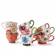 手工绘画浮雕杯 最受欢迎小礼品 公司小礼品推荐