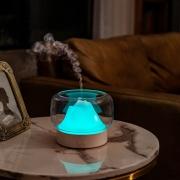 山景多功能香薰机 自动断电香薰灯小夜灯加湿器