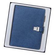创意商务多功能U盘+移动电源充电笔记本套装 送客户实用小礼品