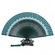 创意会变色的扇子 中国风蕾丝随身便携丝绸扇 大学校庆礼品