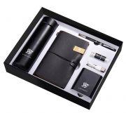 保温杯+笔记本+签字笔+U盘+数据线+移动电源六件套礼盒装 高端客户送什么礼品