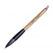 复古木质金属毛笔款签字笔 个性竹子笔杆转动中性笔 企业高管送什么礼品好