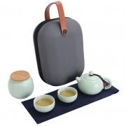 便携式一壶两杯+茶叶罐旅行茶具套装 活动奖品买什么好