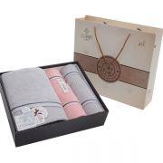 【洁丽雅】全棉优品 毛巾五件套套装 雅致-7 50-100元礼品