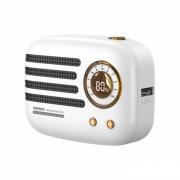 REMAX复古迷你收音机9000mAh移动电源 创意LED显示充电宝