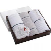 【洁丽雅】全棉优品 纯棉毛巾四件套 雅致-5 创意商务礼品