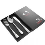 高雅便携式不锈钢餐具礼盒套装 西餐餐具三件套 开业小礼品