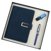 笔记本+金属中性笔+U盘礼盒三件套 公司运动会奖品