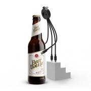 创意多功能开瓶器一拖三数据线 送客户礼品推荐