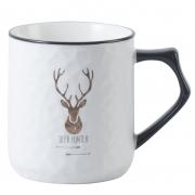 【一鹿有你】菠萝纹陶瓷马克杯礼盒+手提袋装 办公室茶水杯 保险礼品