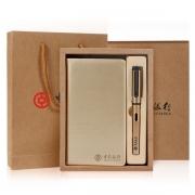 A6商务笔记本+签字笔套装礼盒 商务两件套定制 展会促销广告